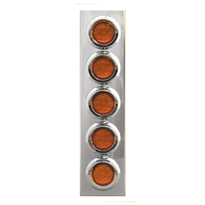 "127-160025 <BR /> 17"" x 4"" Amber L.E.D. Air Cleaner Light Bar Set – Amber"