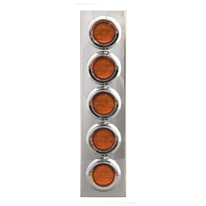 """127-160025A <BR /> 17"""" x 4"""" Amber L.E.D. Air Cleaner Light Bar Set – Amber"""