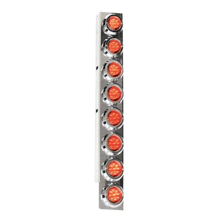 "127-160028RCLX <BR /> 26""x 4"" Amber L.E.D. Air Cleaner Light Bar Set – Clear Lens Red"