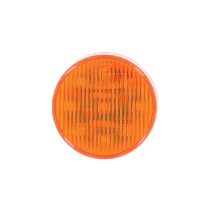 "127-16002A <BR /> 2"" Round L.E.D. Sealed Marker Lamp – Amber"