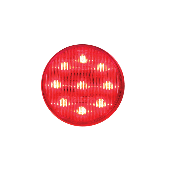 "127-16002RCL <BR /> 2"" Round L.E.D. Sealed Marker Lamp – Clear Lens-Red"