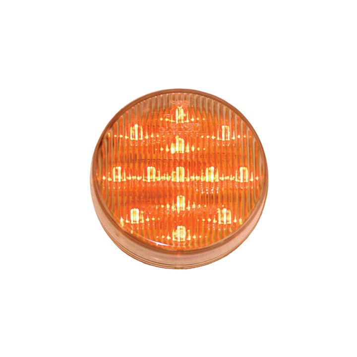 "127-17002ACL <BR /> 2.5"" Round L.E.D. Sealed Marker Lamp – Clear Lens-Amber"