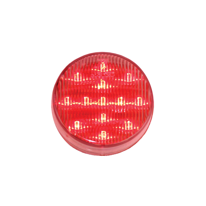 "127-17002RCL <BR /> 2.5"" Round L.E.D. Sealed Marker Lamp – Clear Lens-Red"