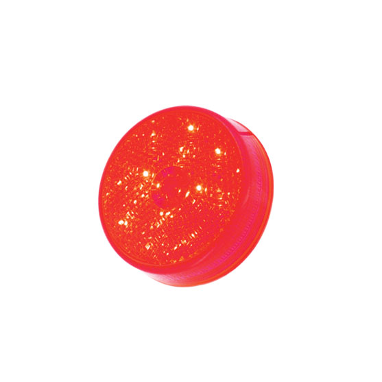 "127-17004R <BR /> 2.5"" Round L.E.D. Sealed Marker Lamp – Red Reflectorized"