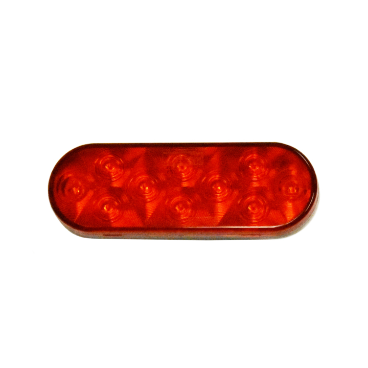 """127-60010RB <BR /> 6"""" x 2"""" Oval """"Compact Count™"""" L.E.D. Sealed S/T/T Lamp – Red"""