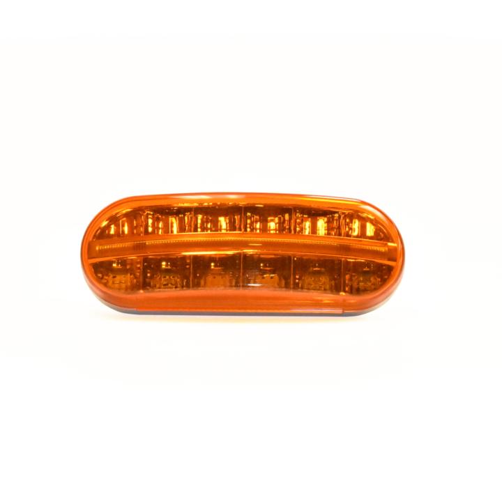 "127-60607A <BR /> 6""x2"" Oval 3D Helix L.E.D. S/T/T Lights Amber"