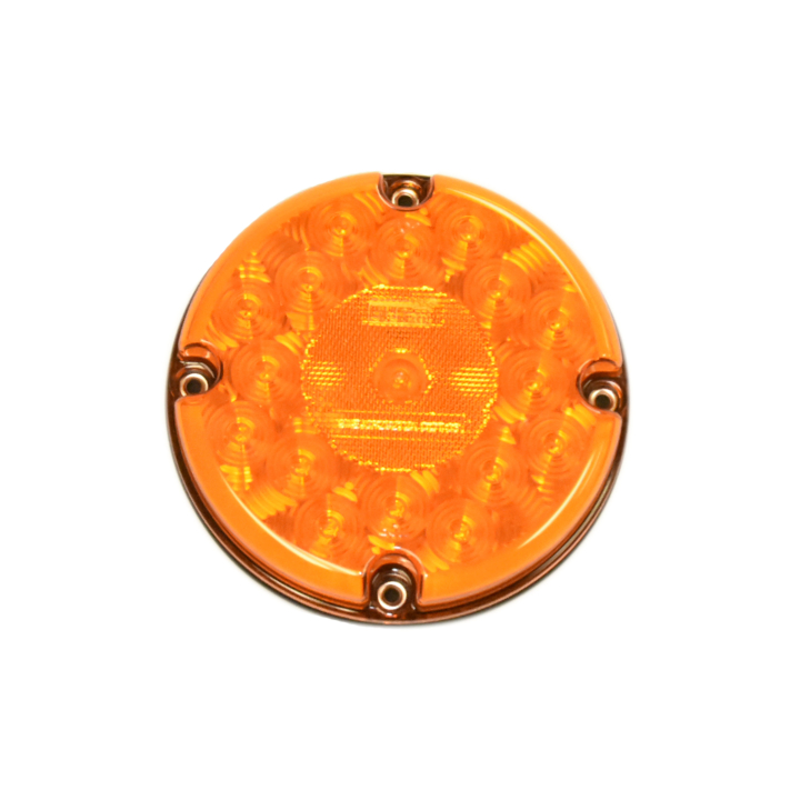 "127-65000A <BR />7"" Round ""Maximum CountTM"" L.E.D. Sealed S/T/T Bus Lamp – Amber"