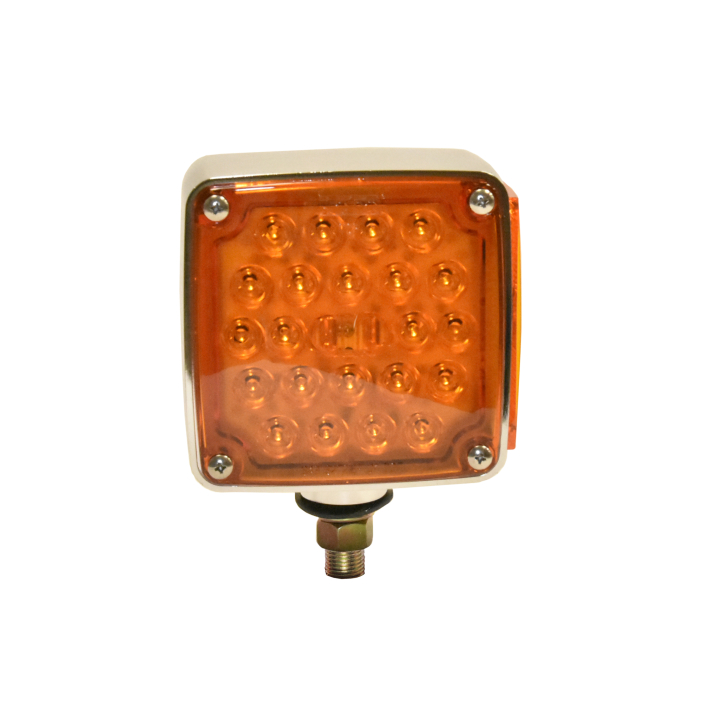 "127-66031L <BR /> 4.5"" Square Single-Stud Dual-faced L.E.D. S/T/T Pedestal Lamp – Left"