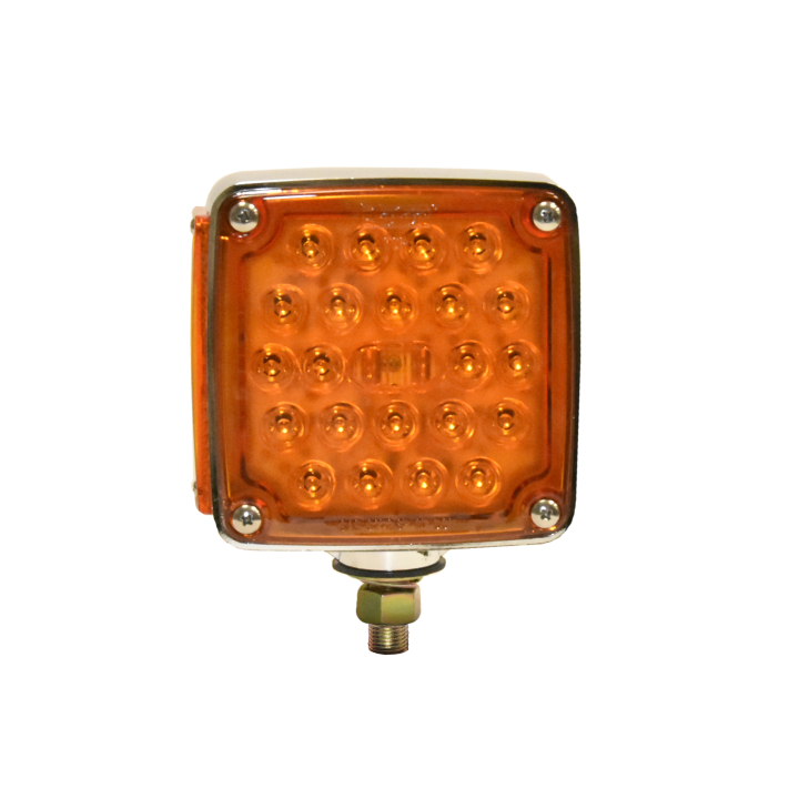 "127-66032R <BR /> 4.5"" Square Single-Stud Dual-faced L.E.D. S/T/T Pedestal Lamp &#8211; Right"