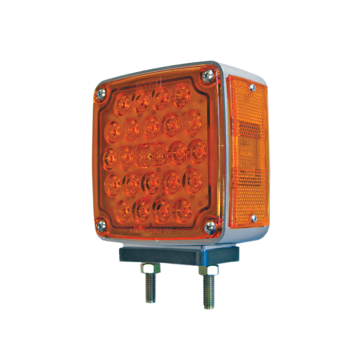 "127-66035L <BR /> 4.5"" Square 2-Stud Dual-faced L.E.D. S/T/T Pedestal Lamp – Left"