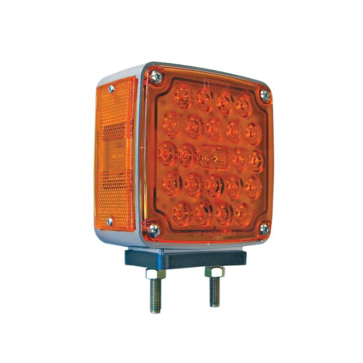 "127-66035R <BR />4.5"" Square 2-Stud Dual-faced L.E.D. S/T/T Pedestal Lamp – Right"