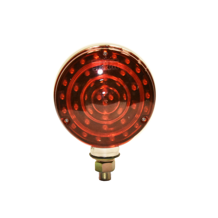 "127-66070 <BR /> 4"" Round ""Maximum CountTM"" Dual-faced L.E.D.  S/T/T Pedestal Lamp"
