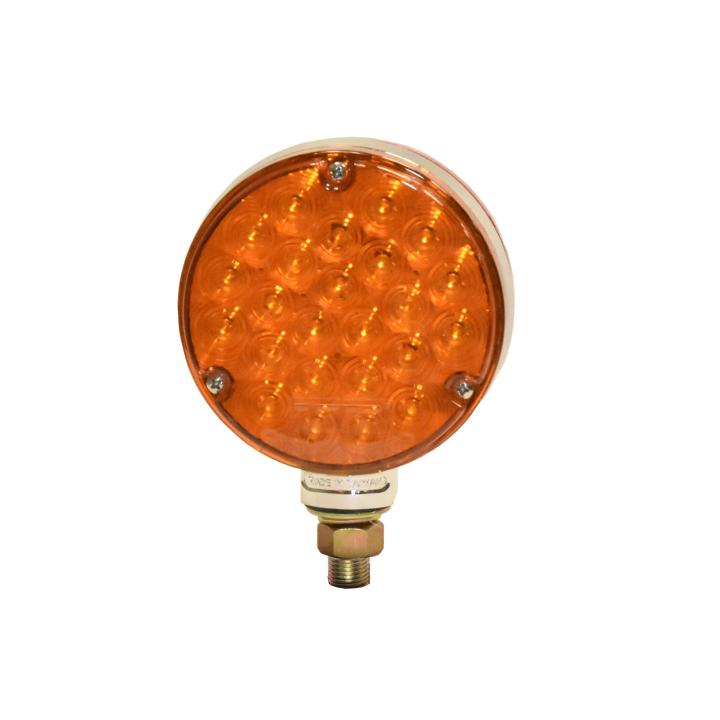 "127-66708AR <BR /> 4"" Round ""Maximum CountTM"" Dual-faced L.E.D.  S/T/T Pedestal Lamp"