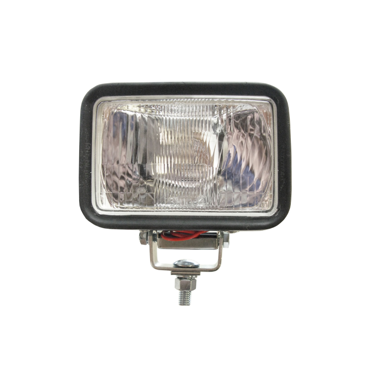 "128-70H4651 <BR /> 5""x 7"" Rectangular Halogen Auxiliary Driving Light in Rubber Housing"