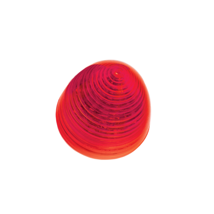 """126-1019 <BR />2.5"""" Red """"Beehive"""" Style Sealed Marker Lamp"""