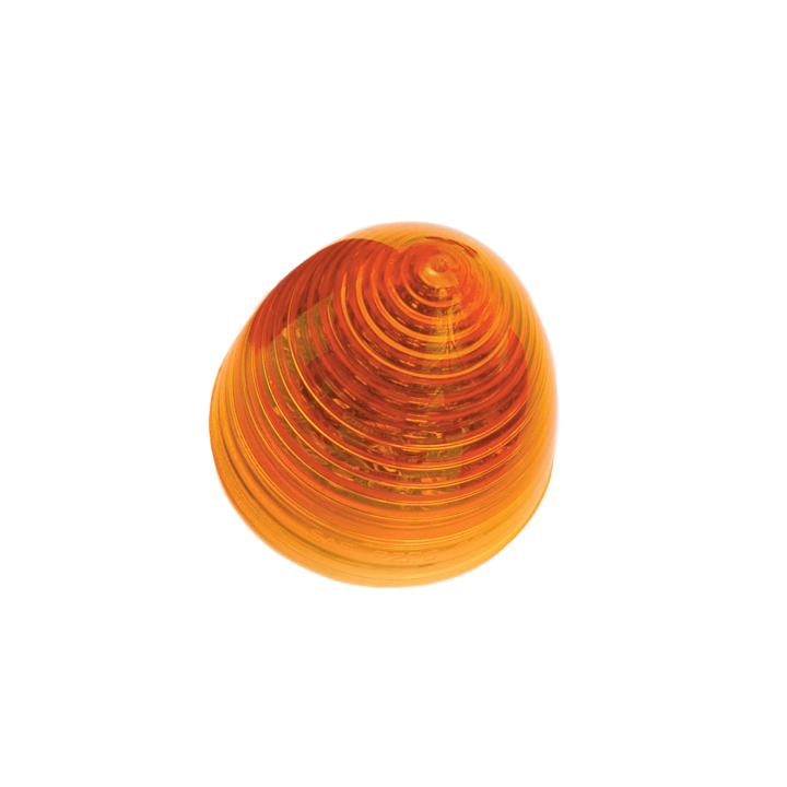 """126-1019A <BR />2.5"""" Amber """"Beehive"""" Style Sealed Marker Lamp"""