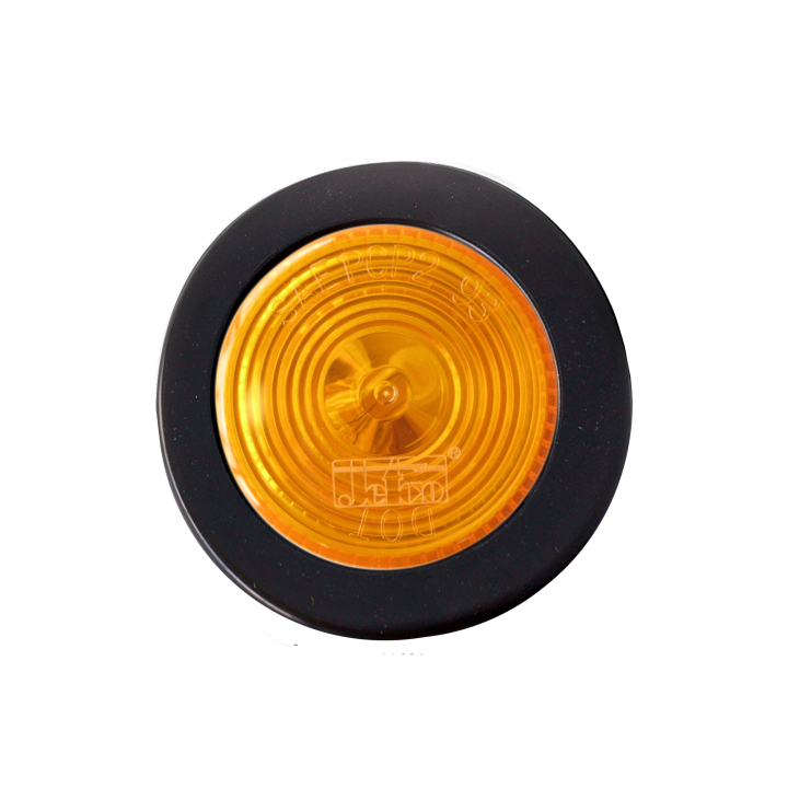 "126-1030KA (Kit)<BR />2"" Round Halogen Amber Reflectorized Sealed Marker Lamp"