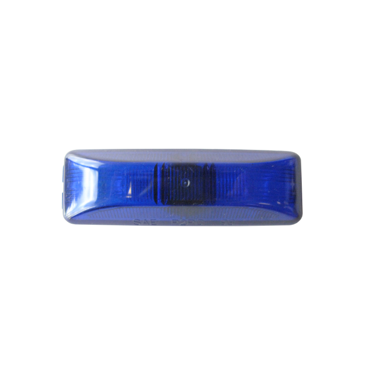 "126-1900B <BR />1"" × 4"" Blue Sealed Marker Lamp"