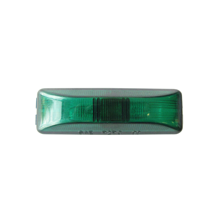 "126-1900G <BR />1"" × 4"" Green Sealed Marker Lamp"