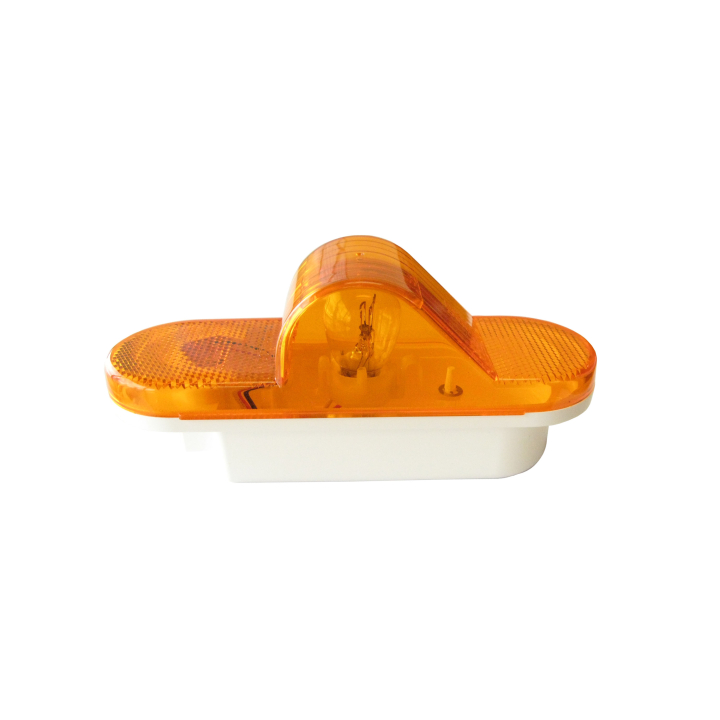 """126-4073A <BR />2"""" × 6"""" Oval Amber Mid-Turn / Marker Sealed Lamp"""
