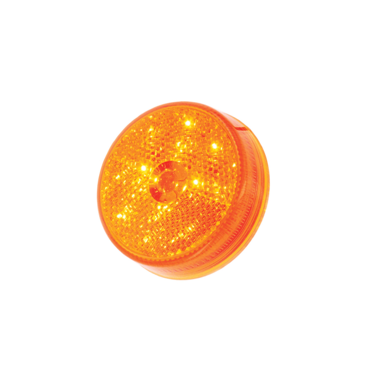 "127-17004A <BR /> 2.5"" Round L.E.D. Sealed Marker Lamp &#8211; Amber Reflectorized"