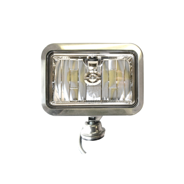 128-57LED4651SS </BR> 5&#8243;x 7&#8243; Low Beam L.E.D. Headlight in S/Steel Housing