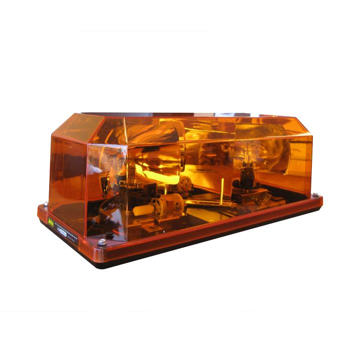 126-33202-4<br/>5.5″ Low Profile Heavy Duty Halogen Amber Strobe