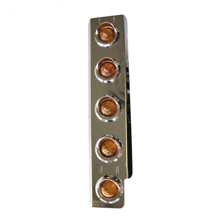 "127-100185WS <BR /> 23""x 4"" Amber L.E.D. Air Cleaner Light Bar Set for Western Star – Amber"