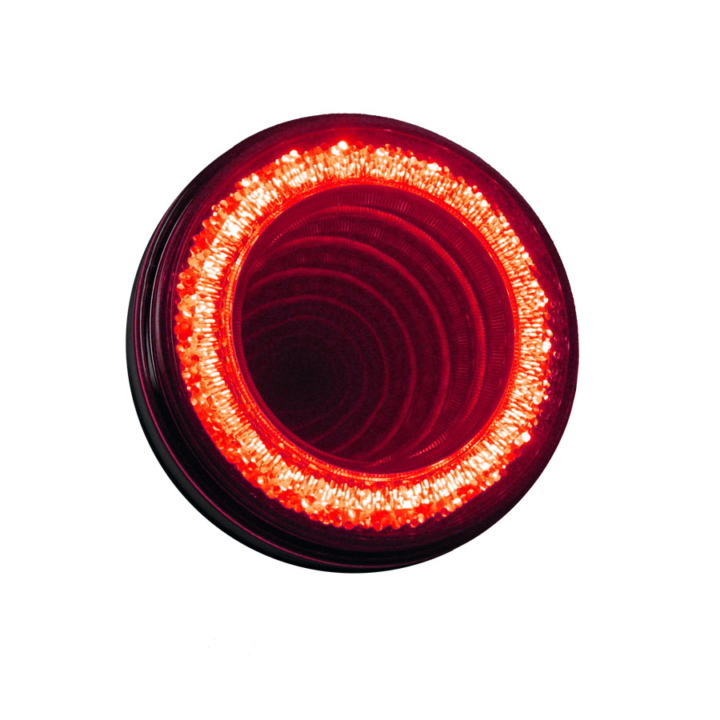 "127-40324RB <BR /> VORTEX <br/> RED <br/> 4"" Round High Visibility L.E.D S/T/T Lights (12V)"