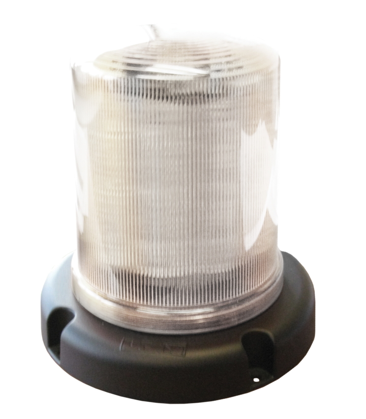 "126-67033WCL-8 <BR />7.5"" L.E.D. White Clear Warning Beacon Strobe"