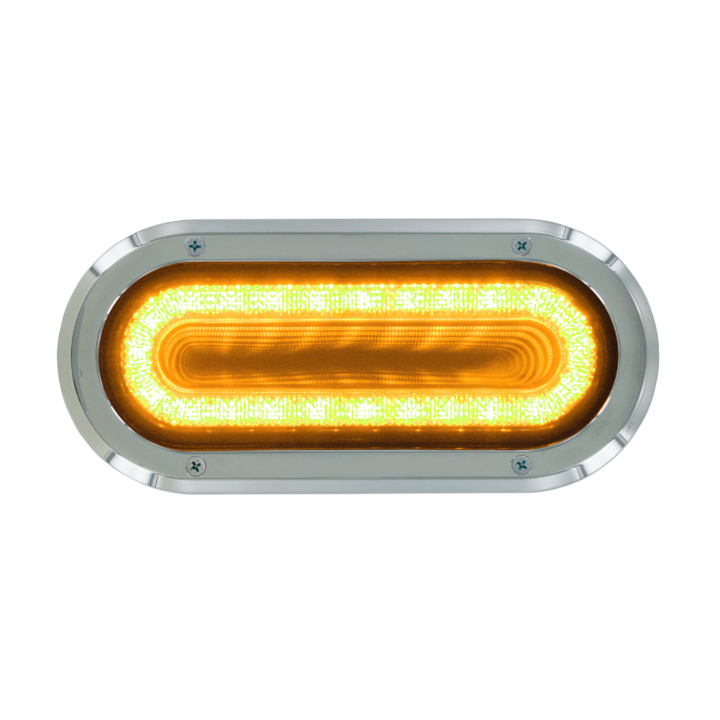 "127-60324AB  VORTEX  AMBER  2×6"" Oval High Visibility L.E.D S/T/T Lights (12V)"
