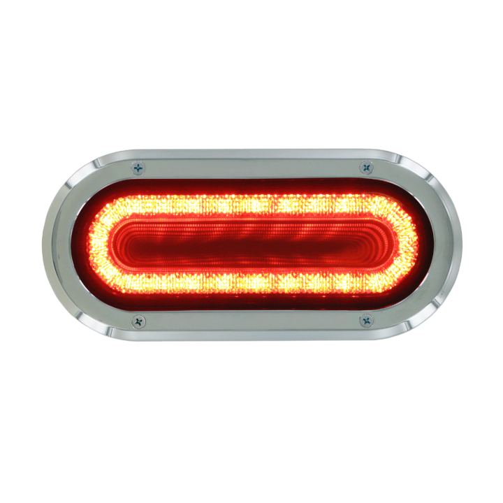 "127-60324RB  VORTEX  RED  2×6"" Oval High Visibility L.E.D S/T/T Lights (12V)"