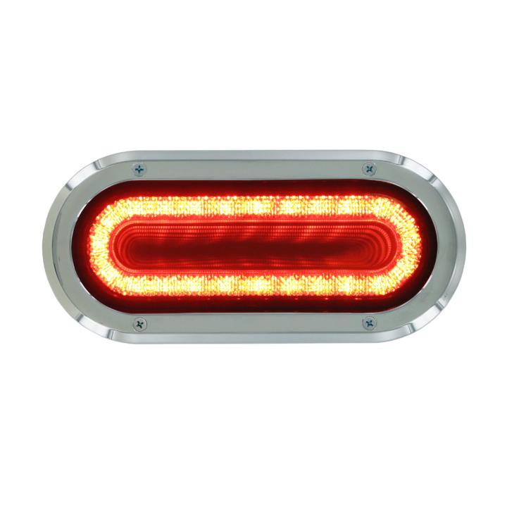 "127-60324RB  VORTEX  RED  2×6"" Oval High Visibility L.E.D S/T/T Lights (12V)"